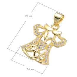 2016 Fashion Necklace Charm Cubic Zircon Micro Pave Pendant Dress Plated & Hollow More Colors For Choice 20x16mm Hole:About 3.6mm 10PCS Lot