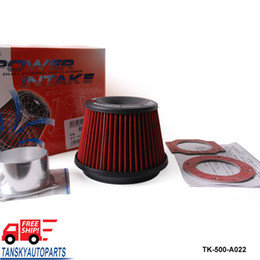 Wholesale Tansky APEXI Power Intake Apexi Universal Kits Auto Intake Air Filter mm Dual Funnel Adapter Useful New TK A022 FS