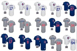 Wholesale 2016 World Series patch Men Chicago Cubs Chapman Javier Baez Kris Bryant Rizzo Lester Russell baseball jerseys Stitched