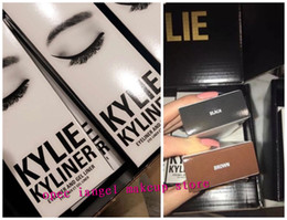 Wholesale Hot makeup NEW Kylie Cosmetics By Kylie Jenner Kyliner In Black Brown with Eyeliner Gel pot Brush top quality best price