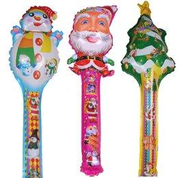 Wholesale 20pcs Christmas Balloons Santa Claus Hand Balloon Xmas Party Supplies Children Inflatable Toys Bobies Kids Classic Toys