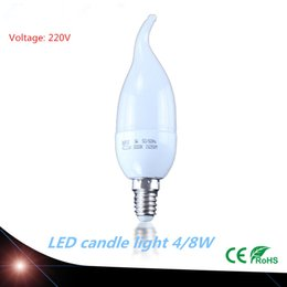 Wholesale High Power E14 LED Filament lamp glass cover W W AC220V led candle light style Frosted white