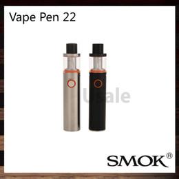Wholesale Smok Vape Pen Starter Kit All in one Vapor System LED indicator Design With mah Battery mm Diameter Original