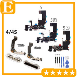 Wholesale for IPhone s G s c Plus USB Dock Connector Charger Charging Port Flex Cable Headphone Audio Jack Ribbon microphone