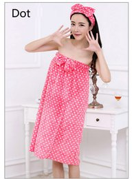 Wholesale Sexy Women Nightwear Cute Robes Bath Towel Set With Hair Band Bathrobe Absorbency Spa Body Microfiber Hair Towel Beach Towel Sexy Sleepwear