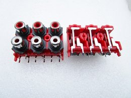 Wholesale 6 AV amplifier socket RCA jack lotus seat audio jack video jack feet of copper