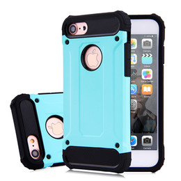200pcs Top Quality Hard Tough Armor Case for iphone 7plus 5.5 inch Mobile Phone Slim 2 in 1 Durable Plastic + TPU Hard Back Cover