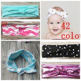 Headband for Children Solid Bow Hair Bands Girls Elastic Knot Rabbit Ear Hair Bands Infant Baby Headwear Hair Ribbon Headbands