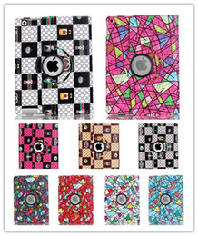 Wholesale Colorful Art Rotating Leather case cover for ipad air pro mini mini4 inch tablet case