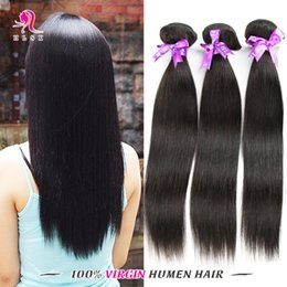 7A Clearance Top Quality Cheap Indian Remy Straight Hair Bundles Virgin Remy Hair Color 1B Free DHL FAST Shipping