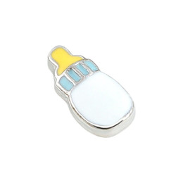Wholesale 20Pcs New Arrival Fashion Alloy DIY Enamel Baby Feeder Charm for Floating Living Memory Locket