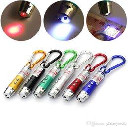 Promotion des vacances mini-lumières meilleures lumières de Noël 3 en1 LED Mini lampe de poche en alliage d'aluminium de la flamme avec mousqueton anneau porte-clés mini-pointeur laser rouge lampe de poche