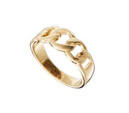 Wholesale New Jewelry 18K Rose Gold Plated Chain Design Finger Ring High Quality rings for women