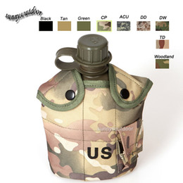 Wholesale Outdoor Sports Molle Bag Hydration Pack Assault Combat Military CamouflageTactical Molle Water Kettle with Cover Pouch