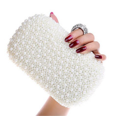 New arrival luxary diamond pearl day evening bags rhinestone crystal clutch bridal bag fashion wedding party bags Evening Bags
