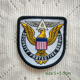 Security Protective Service US America Badge Sew On Patch Shirt Trousers Vest Coat Skirt Bag Kids Gift Baby Decoration