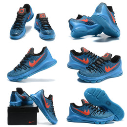 (With shoes Box) 2016 NEW Kevin Durant KD 8 VIII Road Game Hot Sale Men Shoes Free Shipping