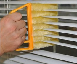 Wholesale Convenient Microfibre Venetian Blind Blade Cleaner Window Conditioner Duster Clean Brush Yellow Color Yellow