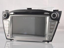 Wholesale 1024 HD Hyundai iX35 Tucson Pure Android quad core din android car dvd gps radio stereo din WIFI DVR OBD2
