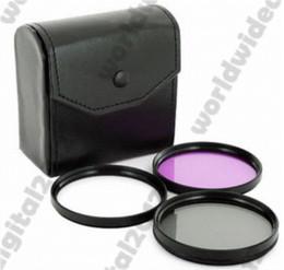 Cerca filtros en Línea-55MM cerca de macro Kit de filtro de la lente SLR + Graduado azul gris + UV CPL FLD Kit Filtro + Hood para
