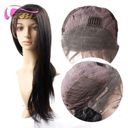 Wholesale Straight Human Wigs - Straight Front Lace Wig Virgin Straight Human Hair Extensions XBL Human Hair Wig XBL Free Shipping