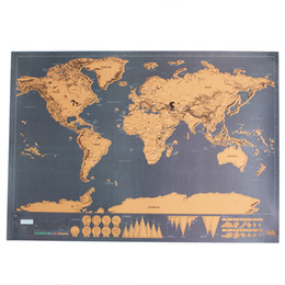 Wholesale Hand drawn Map Of Blank Coloring Creative DIY Painting The Children s Coloring Topdot Map Scratch Videos