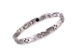New hot sale high quality silver energy magnetic bracelets with germanium infrared ion 4 in 1 bio healthy bracelet