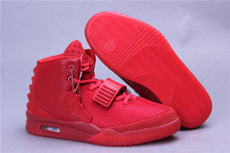 Wholesale Perfect West shoes Red October Black Solar Red Men South Beach Athletic Basketball Shoes With Dust Bags