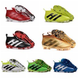ACE 16+ PureControl Primeknit Firm Ground Football Cleats Shoes Mens High Tops Soccer Boots FG Soccer Shoes New Soccer Cleats Football Boots