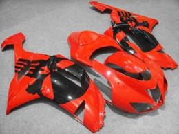 Motorcycle Fairing kit for KAWASAKI Ninja ZX6R 07 08 ZX6R 636 2007- 2008 Hot red gloss black ABS Fairings set 0001