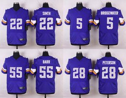 Wholesale Adrian Peterson Teddy Bridgewater Anthony Barr Stefon Diggs Harrison Smith Sam Bradford embroidery Mix Order