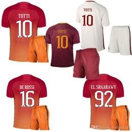 Wholesale Best selling new Rome Jerseys kit PJANIC DZEKO TOTTI DE ROSSI home away Associazione Sportiva Roma M SALAH Jersey Wholes