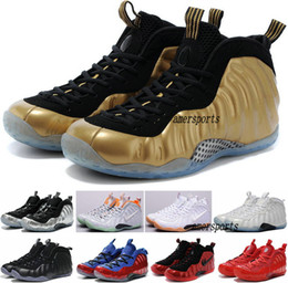 Wholesale 2016 Mens Air Penny Hardaway Shoe Galaxy One Men Basketball Shoes High Quality Foams Basket Ball Sneaker Running Shoes Gold Size