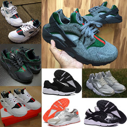 Wholesale Summer Classic Air Huarache Run Light Breathable Sneakers Men Women White Black Guccirache Red Pink Grey Running Shoes with Original Box