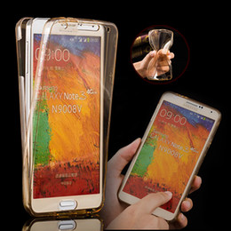 NEW Front + Back Soft Clear TPU Case for Samsung Galaxy Note 3 Note 4 Note 5 SLIM Silicone Full Body 360 Degree Protect Phone Covers