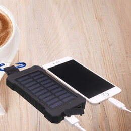 Wholesale Dual USB Solar Charger mah Quick battery charger Portable Solar Energy Panel Charger Power Bank For Mobile Phone PAD Tablet MP4 Laptop