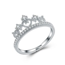 Wholesale 100 real silver jewelry hot fashion crown ring Silver Jewelry Exporter Silver Jewelry Wholesaler low price