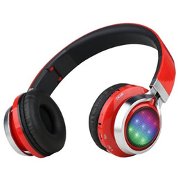 LED Stereo Heavy Bass Wireless Bluetooth Headset Mobile Phone, Call Center, MP3 & MP4, Computer, Game Player, DJ free shipping