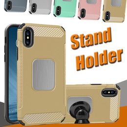 Armor Hybrid Dual Layer Protection Car Stand Holder Magnetic Phone Shockproof Cover Case For iPhone X 8 7 plus Samsung Galaxy S8 Plus Note 8