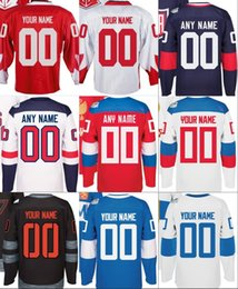 Wholesale Men s All of the teams World Cup of Hockey North America Russia Sweden Finland America team Custom Jersey