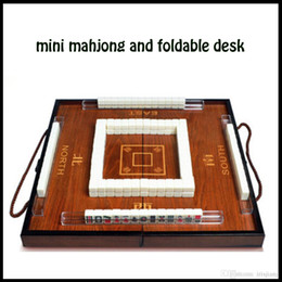 Wholesale leisure recreation article antique portable chinese Mahjong classicu tourism Mahjong game set with wooden box