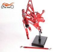 Wholesale Red KELI FUXING Racing CNC Adjustable Rearsets Rear set footpegs For Yamaha YZF R6