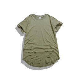 High quality men hip hop t shirt clothing oversized tee shirts swag men sport broken hole kpop rock hba t-shirt camisetas hombre