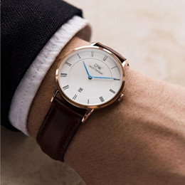Wholesale Luxury Men Brand Watches Casual Women Watches Imported Quartz Genuine Leather Calendar High Quality Strap Drees Watches Original Box