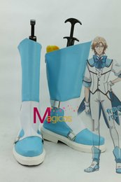 Wholesale Customized Size Binan Koukou Chikyuu Bouei Bu Love Battle Lover Cerulean Cosplay Shoes White and Blue Boots Any Size