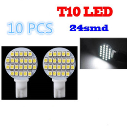 Wholesale 10x White V SMD T10 RV Trailer car Interior LED Light Bulbs lamp CLT_03K