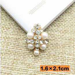 Fancy rhinestone brooch with pearls adorned DIY hair accessories pin material fashion jewelry accessories 12pcs lot MYQB078