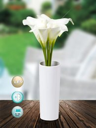 Wholesale Real touch PU Cala Lily led flower With Led night light arrangement Home decoration Xmas party supplies wedding festival gift