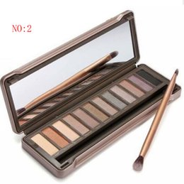 Wholesale Nude Colors Pro Eyeshadow Palette Makeup Powder Cosmetic Brush Kit Box With Mirror Women Make Up Tools Eye Shadow drop shipping