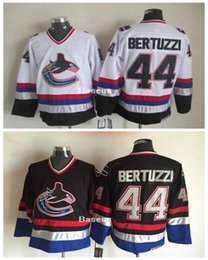 Wholesale New Vancouver Canuck Throwback Hockey Uniform Todd Bertuzzi Jersey White Black CCM Vintage Jersey Stitched C Patch
